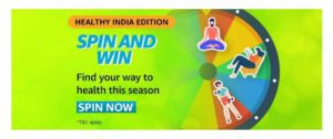 Amazon Spin & Win- Free Headphone & Prizes Worth ₹8L